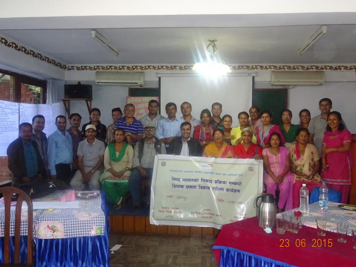 Teachers training on Education in Emergency (EiE)